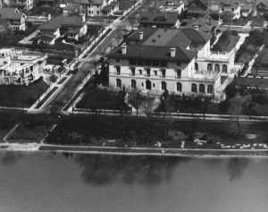 gates mansion aerial